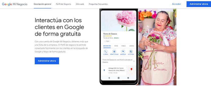 Agrega tu negocio en Google My Business