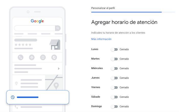 Agrega horario de atención en Google Maps